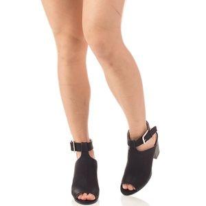 Women's Open toe Chunky Heel Ankle Booties